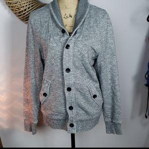 H&M button down sweatshirt jacket medium